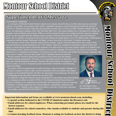 Montour School District Newsletter