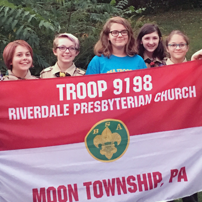 BSA Troop 9198 clebrated one-year anniversary