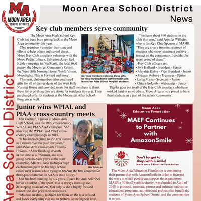 Moon Area School District Newsletter - January 2021