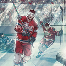 New graphic novel about hockey is Moon author's third