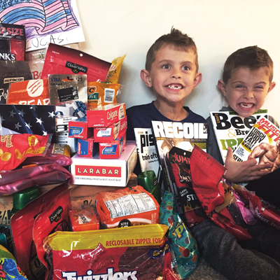 Local twins send gifts overseas